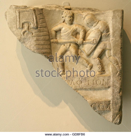 Roman relief carvings stock photos