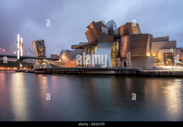 bilbao spain guggenheim museum stock photos bilbao spain guggenheim museum stock