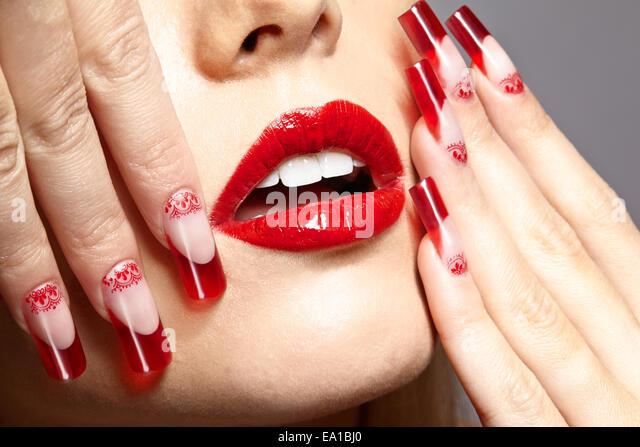 Acrylic nails salon stock photos acrylic nails salon for Acrylic nail salon