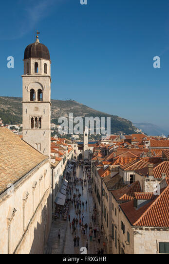 Old town placa stock photos old town placa stock images - The house in the old franciscan tower ...