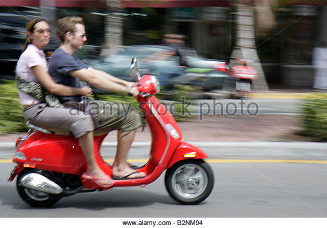 Lady In Scooter Stock Photos Amp Lady In Scooter Stock