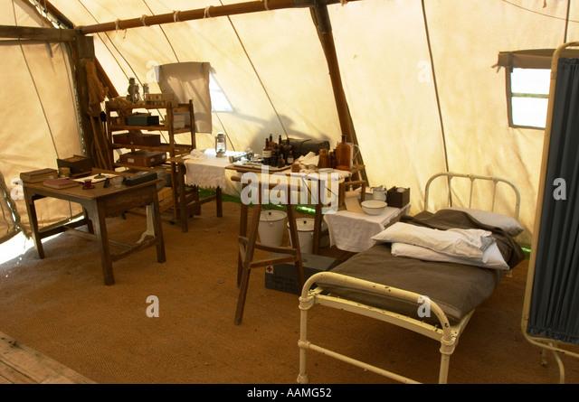 Reconstruction of a 1st world war medical tent - Stock Image & Medical Tent War Stock Photos u0026 Medical Tent War Stock Images - Alamy