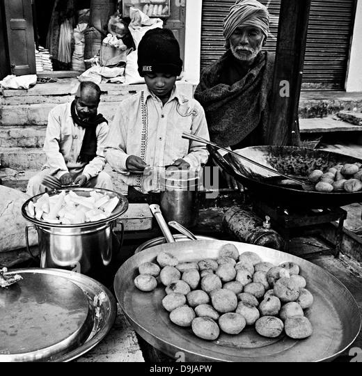Varanasi street food stock photos varanasi street food for Cuisines of uttar pradesh
