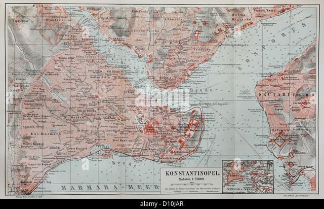 Constantinople Map Stock Photos & Constantinople Map Stock ...