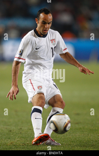 landon donovan of the united states kicks the ball during a 2010 fifa world cup football