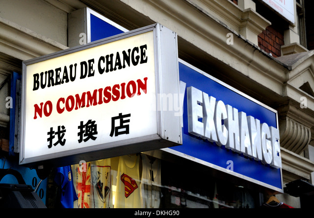 bureau de change sign stock photos bureau de change sign