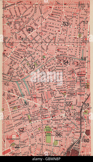 Shoreditch Map: Old Street Map London Stock Photos & Old Street Map London