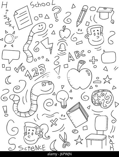 Scribble Drawing Crossword Clue : Scribble brain stock photos images