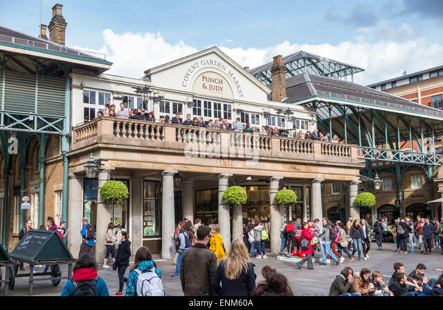 Punch Judy Balcony Bar On A Historic Building In Covent Garden Market
