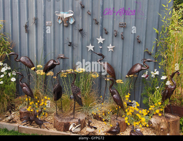 Exhibit Of Metal Garden Ornaments By Chi Africa At Tatton Park Flower Show  2016, In