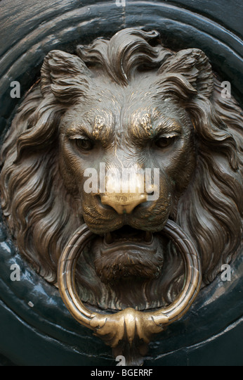 amazon lion head door knocker brass detail green solid mouth