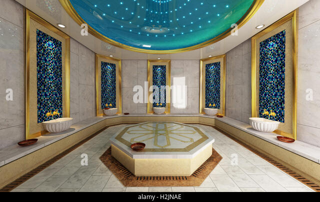 Schön Modern Turkish Bath 3D Design And Rendering   Stock Image