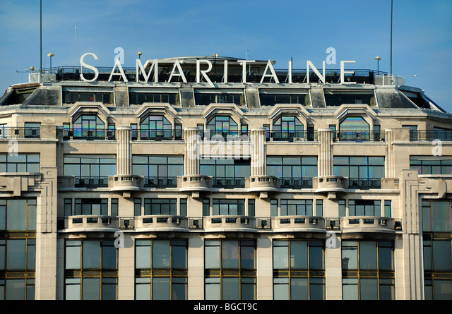 La Samaritaine Department Store, Art Deco Facade with Stone Balconies,  Paris, France -