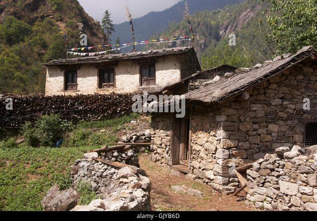 Nepal Village House Stock Photos Nepal Village House