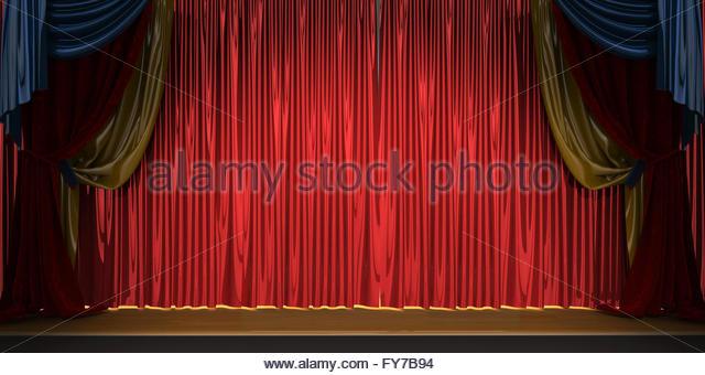 Red Velvet Curtains Stock Photos & Red Velvet Curtains Stock ...