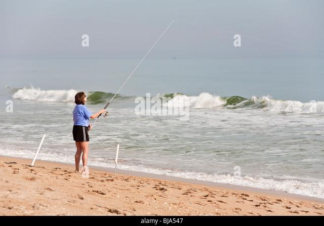 Surf fishing stock photos surf fishing stock images alamy for Florida surf fishing