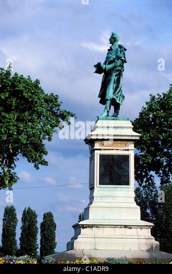 Statue of lamartine stock photos statue of lamartine for Jardin lamartine