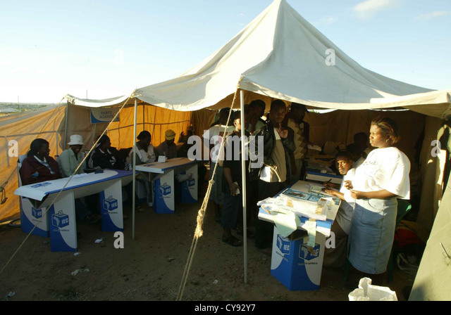 Luthulu Tent is one of the voting stations in Luthuli Park outside Polokwane in Limpopo province & Polokwane Limpopo Stock Photos u0026 Polokwane Limpopo Stock Images ...