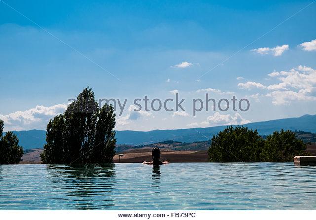 poolfonteverde termesan casciano dei bagniitaly stock image