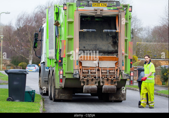 garbage truck collection uk stock photos garbage truck. Black Bedroom Furniture Sets. Home Design Ideas