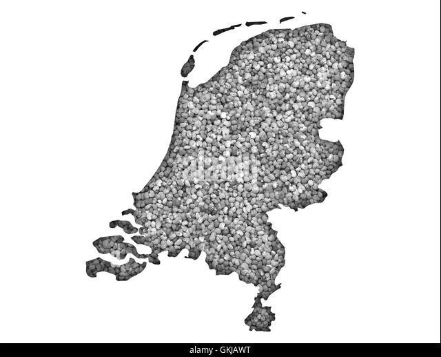 Netherlands Map On White Background Stock Photos Netherlands Map