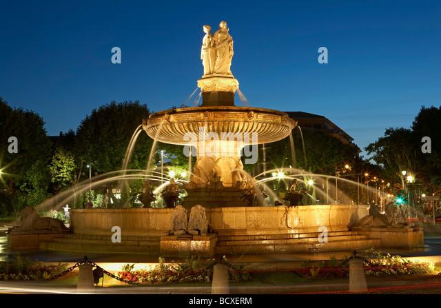 Cours mirabeau night aix en provence france stock photos for Aix en provence cours de cuisine