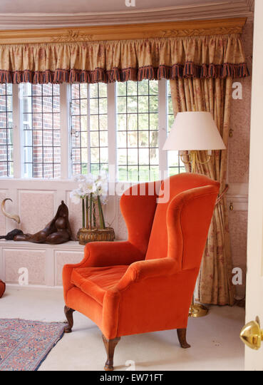Curtains Ideas bright patterned curtains : Orange Curtains Soft Furnishings Stock Photos & Orange Curtains ...