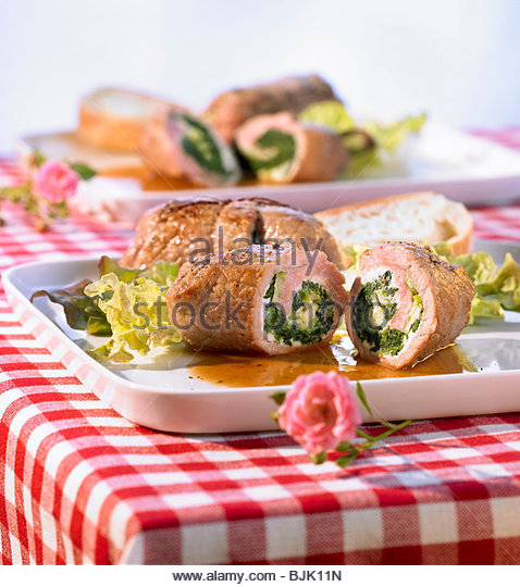 ... And Spinach Rolls Stock Photos & Cheese And Spinach Rolls Stock