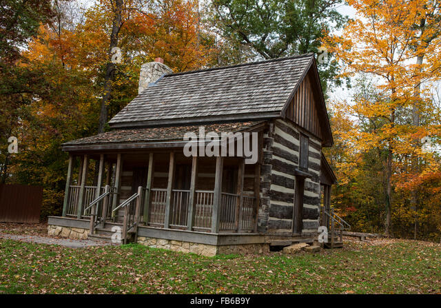Corydon (IN) United States  city photos : Log cabin, Battle of Corydon Park, Corydon, Indiana, United States of ...