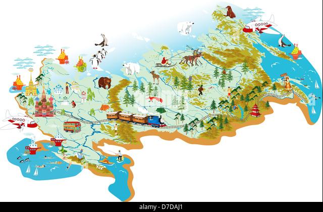 Cartoon Map Of Sochi Stock Photos Cartoon Map Of Sochi Stock - Sochi map