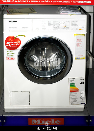 miele washing machine on sale in showroom stock image