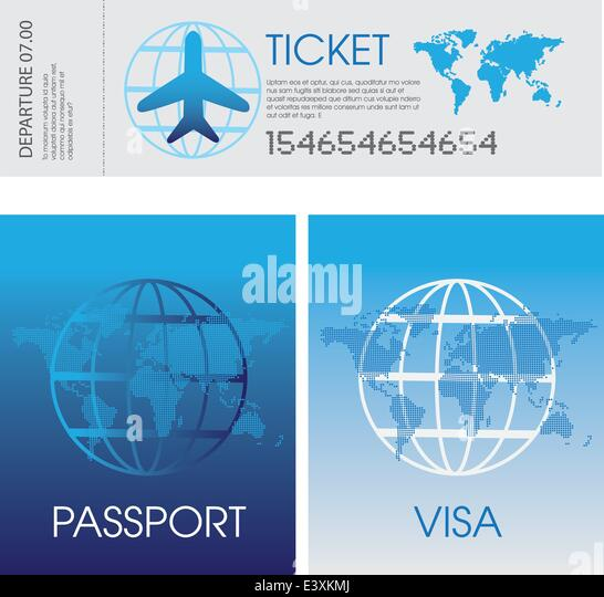 how to buy a plane ticket for a visa