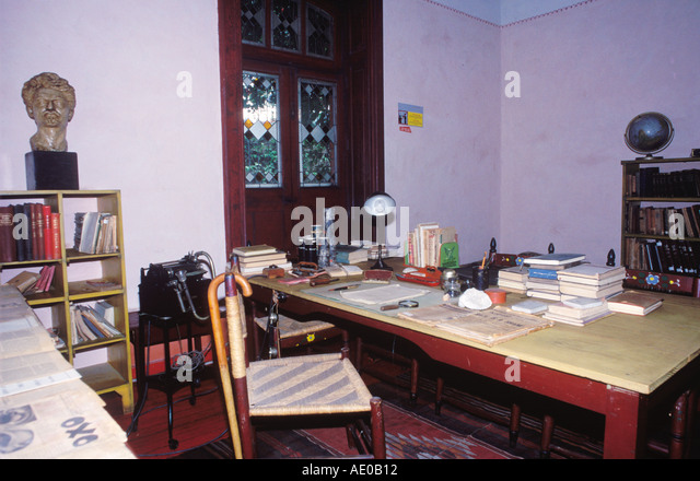 Chair And Table Where Trotsky Was Murdered House Of Leon Mexico City