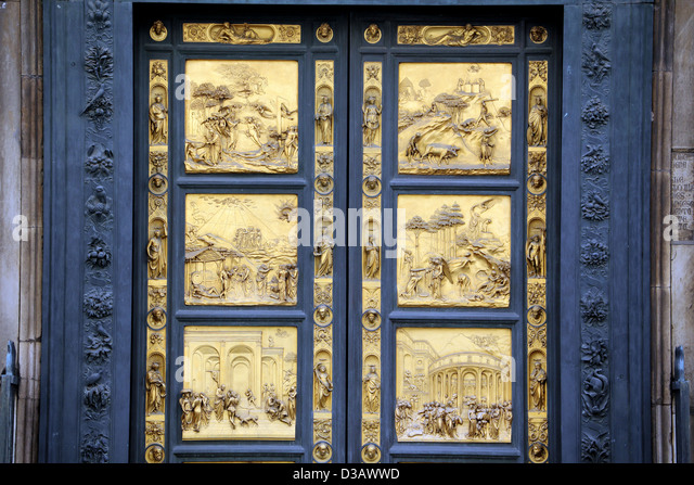 The bronze doors of the Baptistry known as the \u0027Gate of Paradise\u0027 by Lorenzo & Bronze Doors Baptistry Florence Stock Photos \u0026 Bronze Doors ... Pezcame.Com