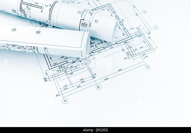 architectural engineering blueprints. Plain Architectural Architect Or Engineer Graphical Blueprints And Plans For House Renovation   Stock Image Throughout Architectural Engineering Blueprints G