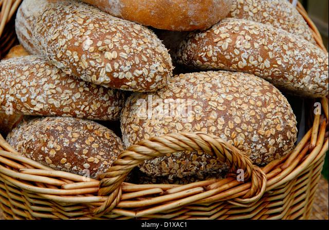 SusFarmhouse Organic Wholemeal Bread Uk Stock Image