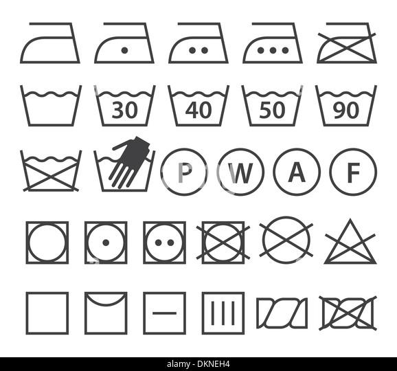 Washing instruction symbols stock photos washing - Instructions de lavage symboles ...