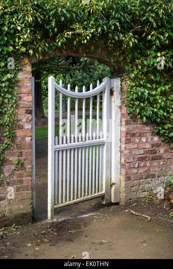 Garden gate arch stock photos