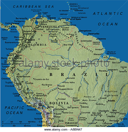 South America Map Columbia Stock Photos Amp South America