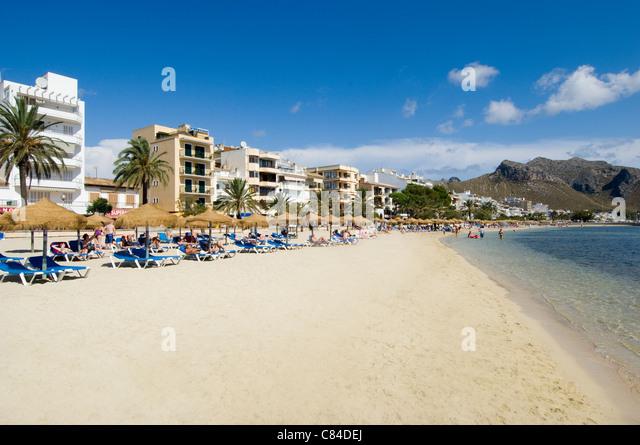 Mallorca Port De Pollenca Beach Stock Photos & Mallorca Port De Pollenca ...