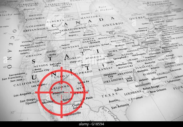 Arizona Mexico Map Stock Photos Arizona Mexico Map Stock Images - United states map arizona
