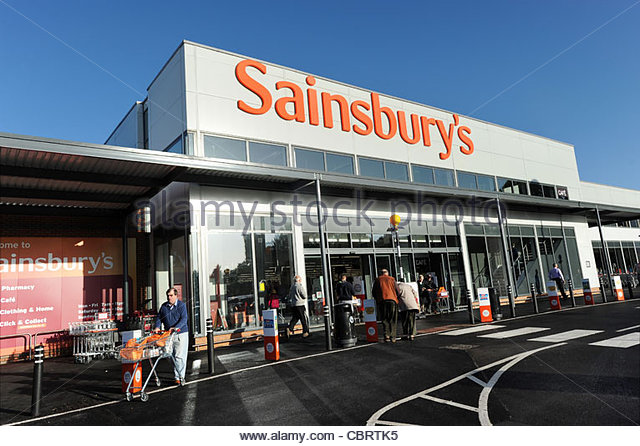 Uk Supermarkets Sainsburys Stock Photos & Uk Supermarkets ...