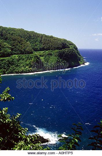 Kapalua Coastal Trail by Oneloa Bay, Maui, Hawaii, USA Stock Photo ...