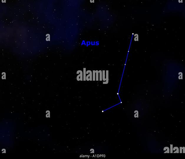 Apus Constellation Space Astronomy Stock Photos & Apus ...