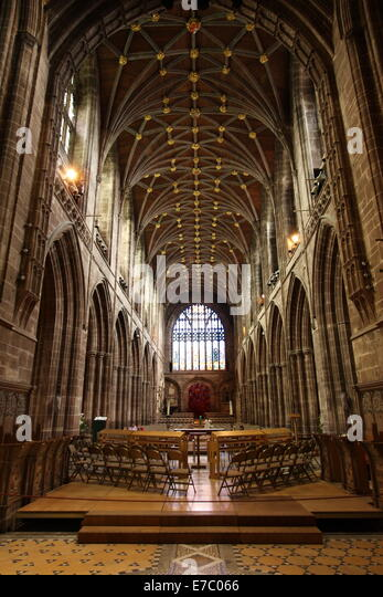 Interior Chester Cathedral Stock Photos Interior Chester Cathedral Stoc