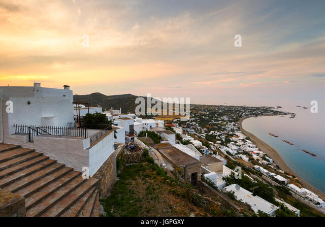 View of Chora village on Skyros island, Greece. - Stock Image