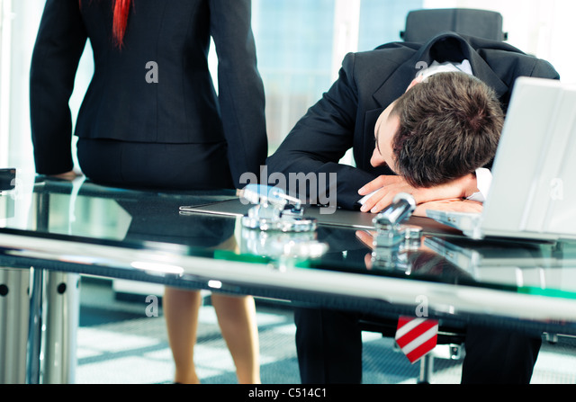 business nap in the office to relieve stress stock image business nap office relieve