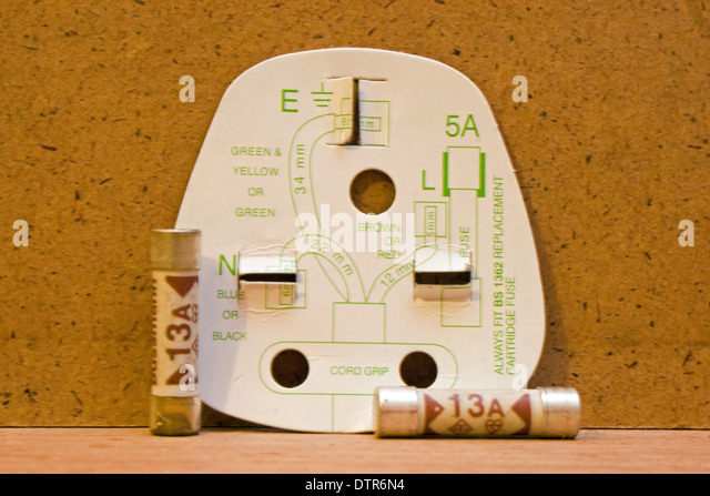 wiring plug stock photos wiring plug stock images alamy uk three pin plug wiring diagram 13amp fuses stock image