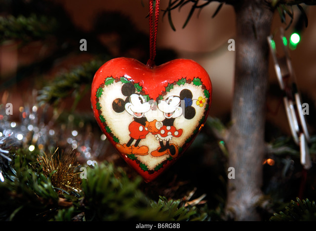 mickey and minnie mouse christmas tree decoration stock photo 21415979 alamy