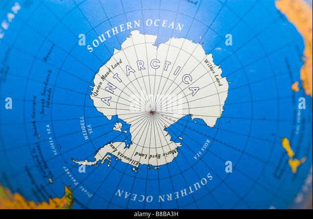 Antarctica map stock photos antarctica map stock images page 2 close up of the antarctic continent on a world globe stock image gumiabroncs Choice Image